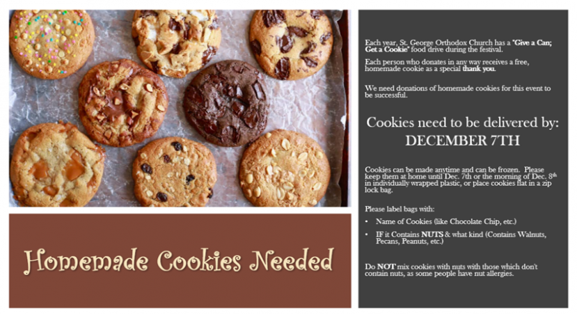 Homemade Cookie Donations